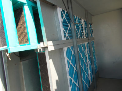 Clean Rooftop HVAC Equipment