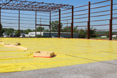 Commercial Vapor Barrier Installation