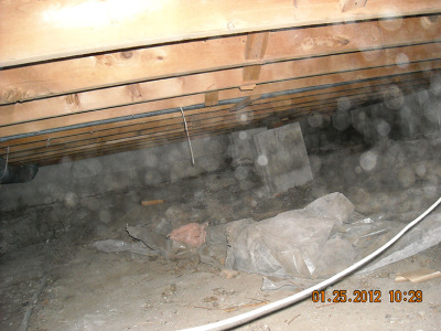 Crawlspace-Liner - Before