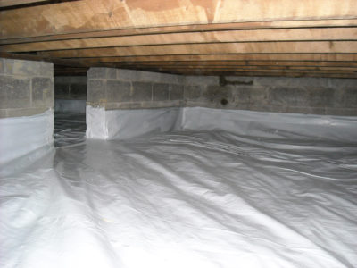 Residential Vapor Barrier Installation