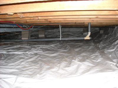 Vapor Intrusion Crawlspace Liner - Installed